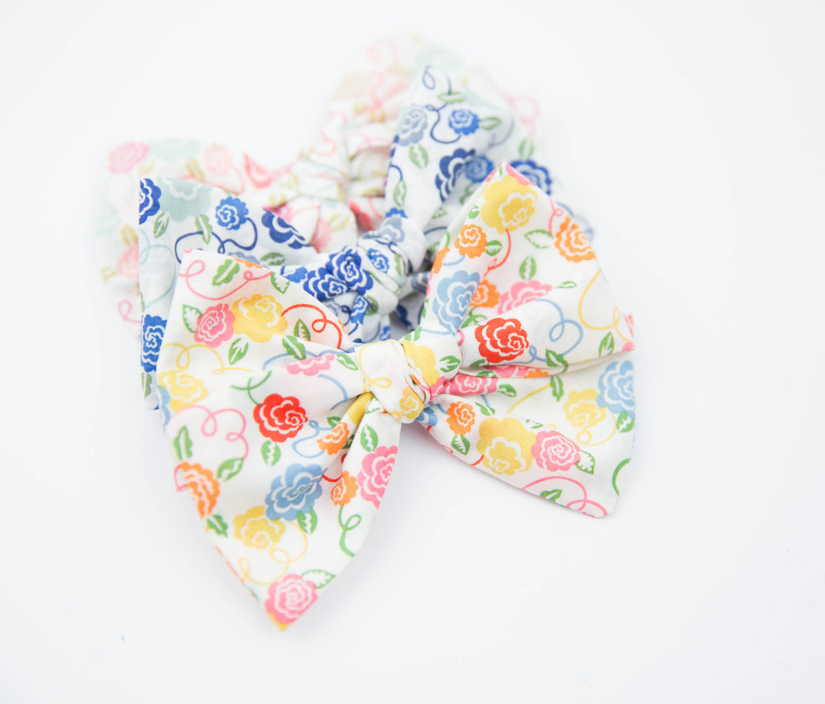 Colorful Ribbon Bloom | Liberty of London | Multiple Styles (Headband or Clip)
