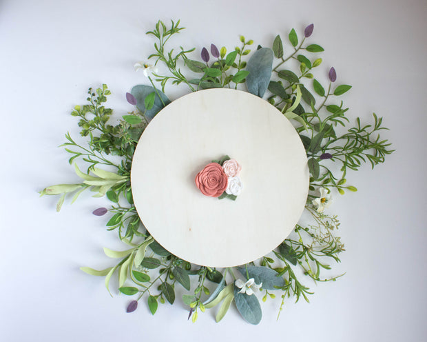 Grapefruit Felt Flower Crown