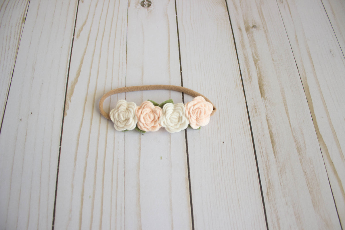 Wheat and Linen Felt Flower Crown