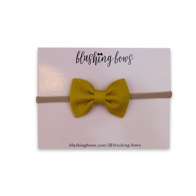 Mustard Double Gauze Bow