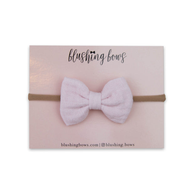 Pink Double Gauze Bow
