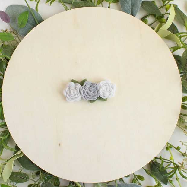 Grey Felt Flower Crown