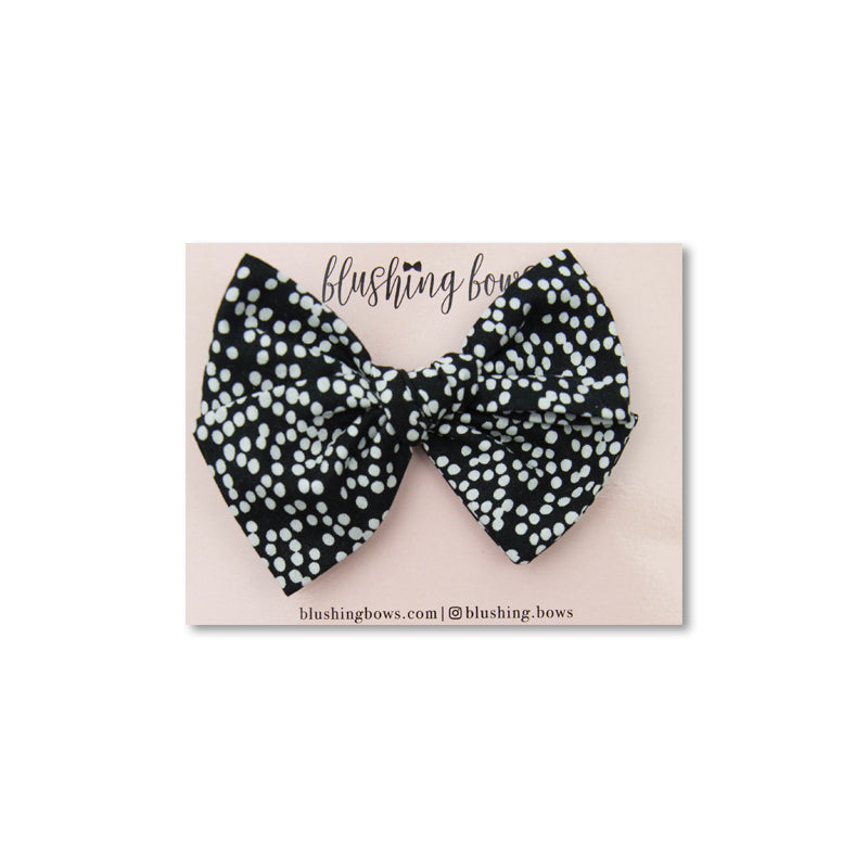 Dotted Black and White | Multiple Styles (Headband or Clip)