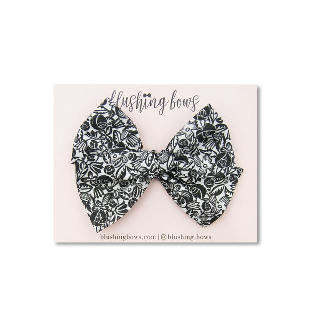 Black and White Floral | Liberty of London $5 | Multiple Styles (Headband or Clip)