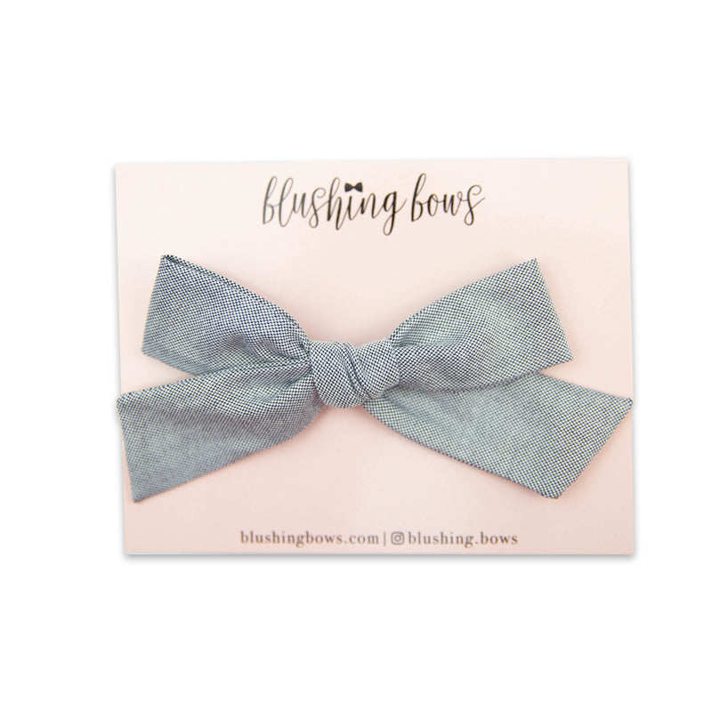 $5 Black Textured Bow | Multiple Styles (Headband or Clip)