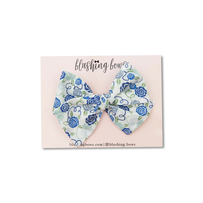 Blue Ribbon Bloom | Liberty of London | Multiple Styles (Headband or Clip)