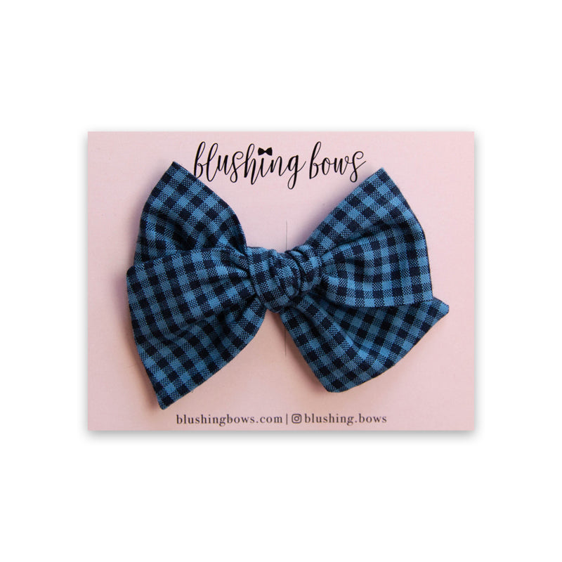 Blue Lumberjack | Multiple Styles (Headband or Clip)