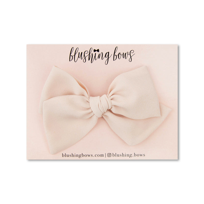 Blush Crepe De Chine | Multiple Styles (Headband or Clip)