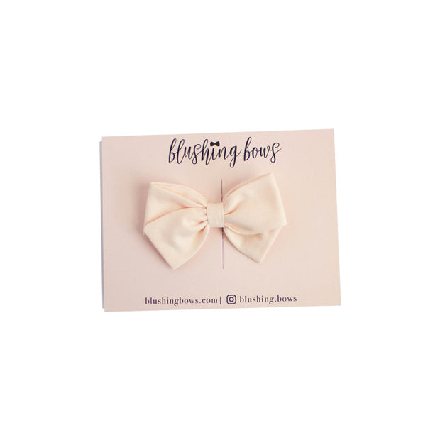 Blush Pink Bow  | Multiple Styles (Headband or Clip)
