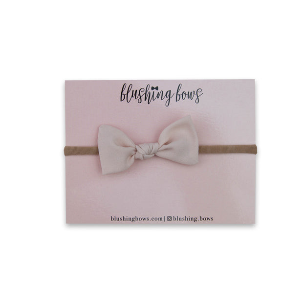 Blush Pink Crepe De Chine Bitty Bow