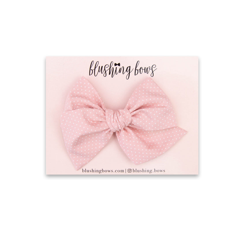 Blush Pink Dot | Multiple Styles (Headband or Clip)