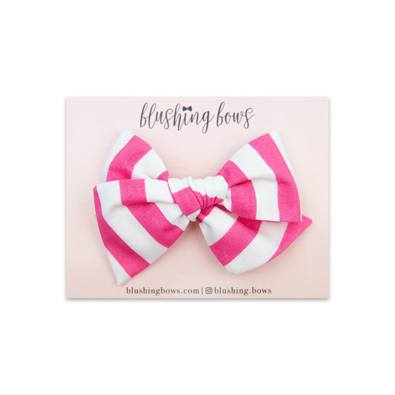 Bubblegum Stripe | Multiple Styles (Headband or Clip)