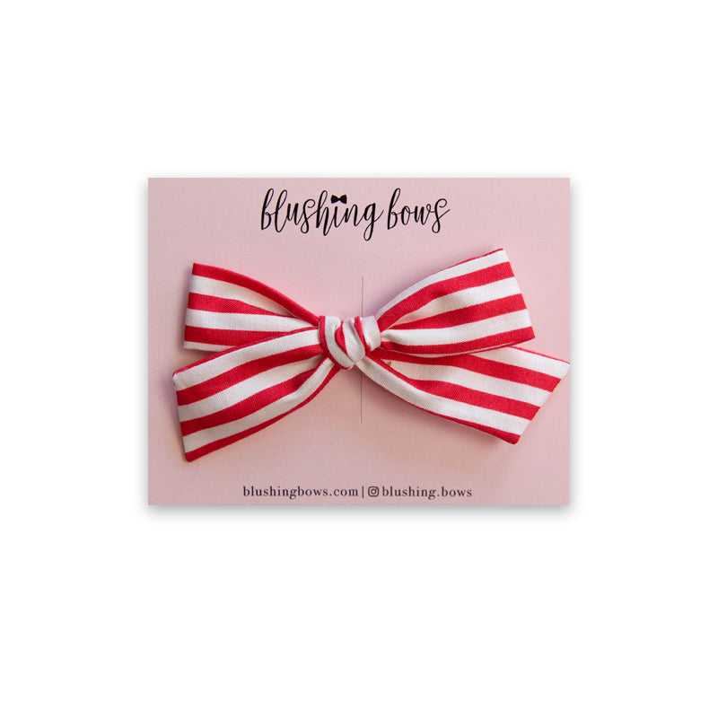 Candy Stripe |  Multiple Styles (Headband or Clip)