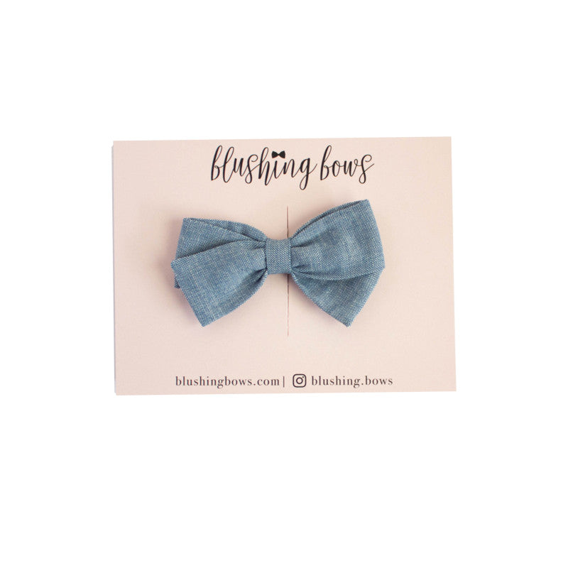 Classic Chambray  | Multiple Styles (Headband or Clip)