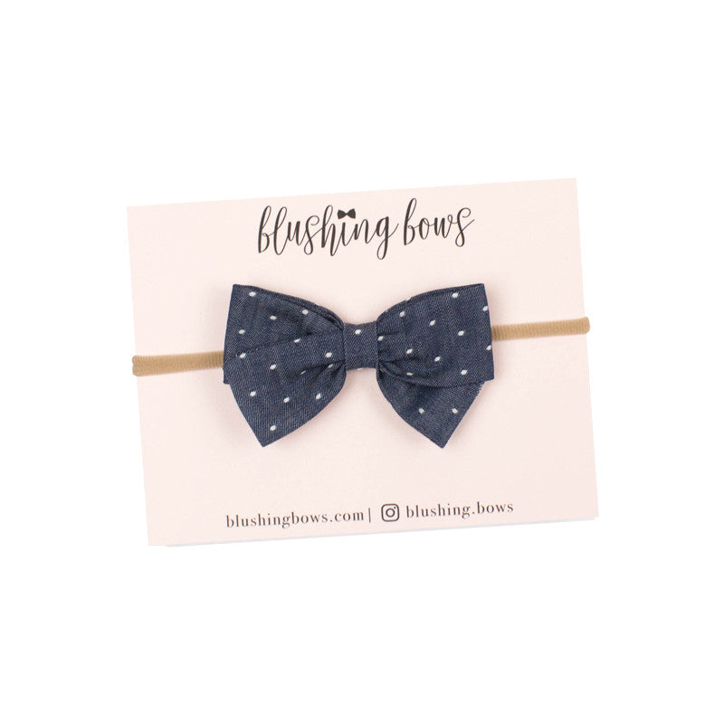 Chambray Dot  | Multiple Styles (Headband or Clip)