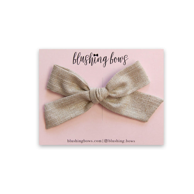 Champagne Shimmer |  Multiple Styles (Headband or Clip)