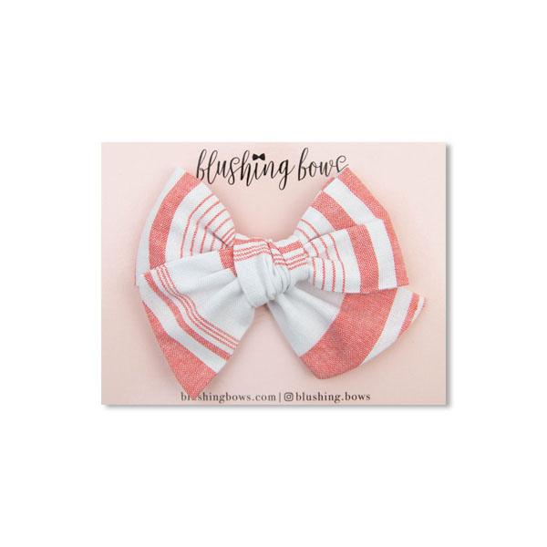 Coral Stripe $5 | Multiple Styles (Headband or Clip)