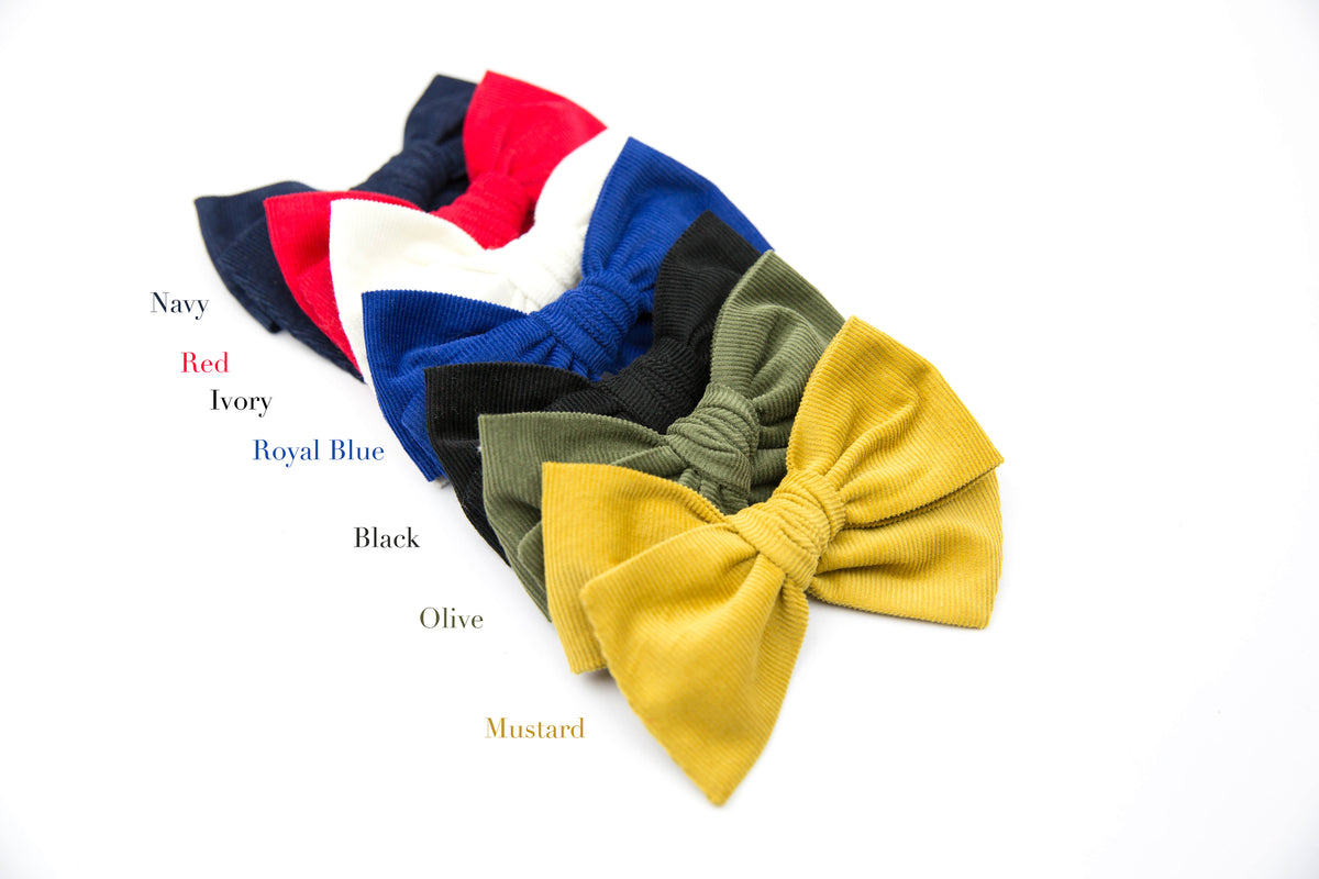 Mustard Corduroy | Multiple Styles (Headband or Clip)