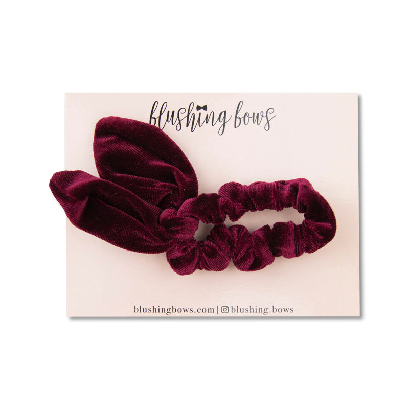 Deep Red | Rabbit Ear Scrunchie