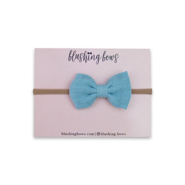 Blue Double Gauze Bow