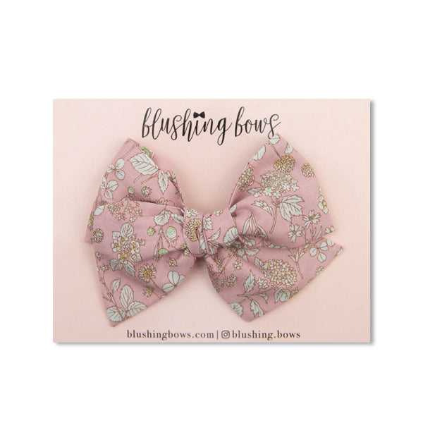 Light Pink  Floral | Multiple Styles (Headband or Clip)