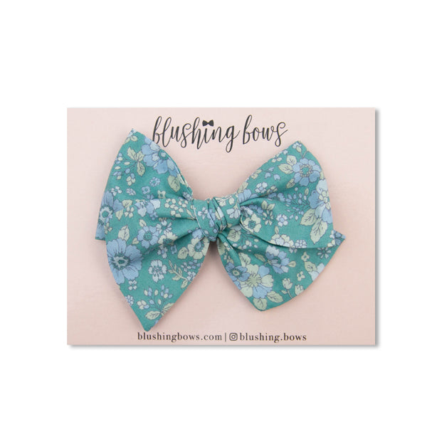 Mint Floral | Multiple Styles (Headband or Clip)