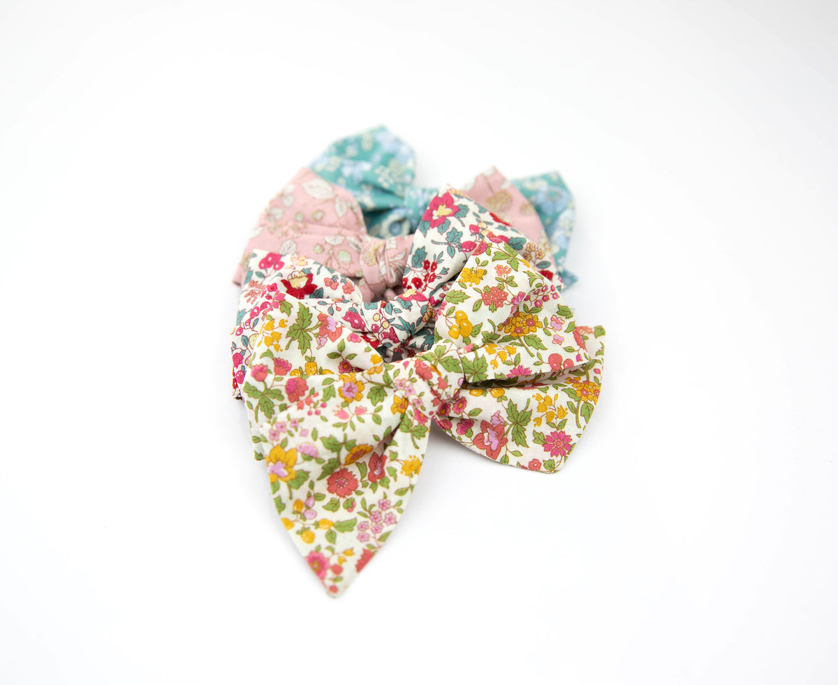 Pink Floral | Multiple Styles (Headband or Clip)
