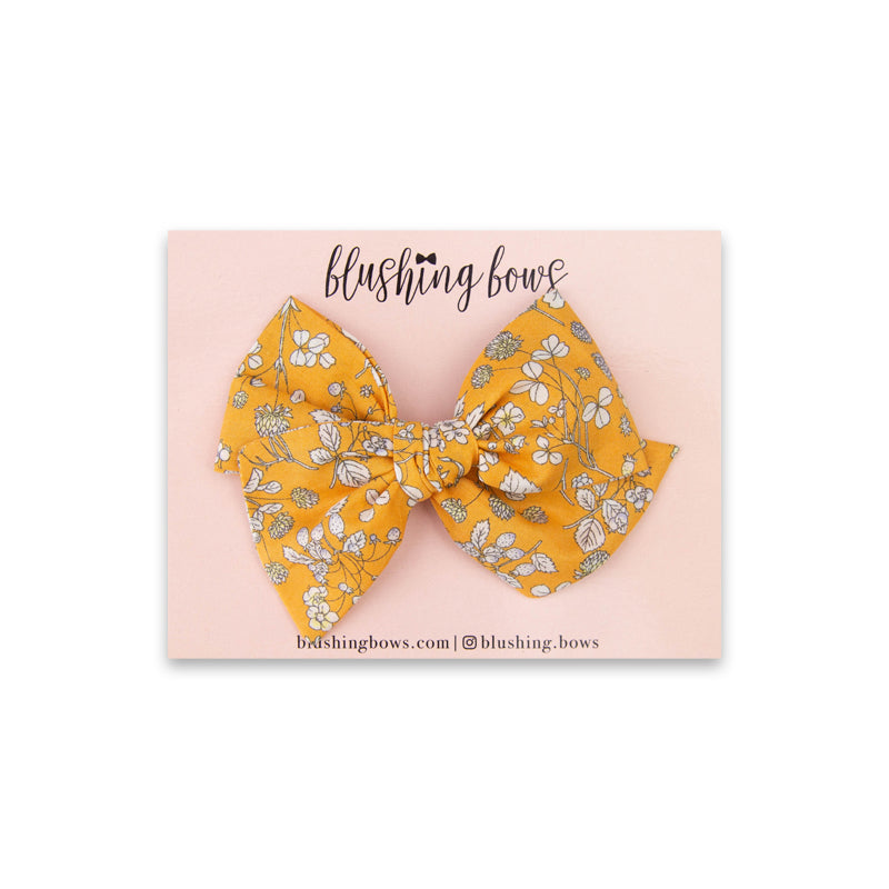 Honey Floral | Multiple Styles (Headband or Clip)