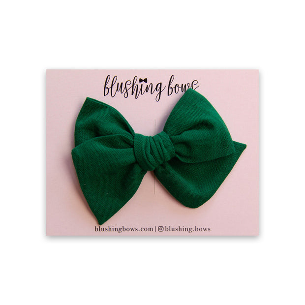 Green Linen | Multiple Styles (Headband or Clip)