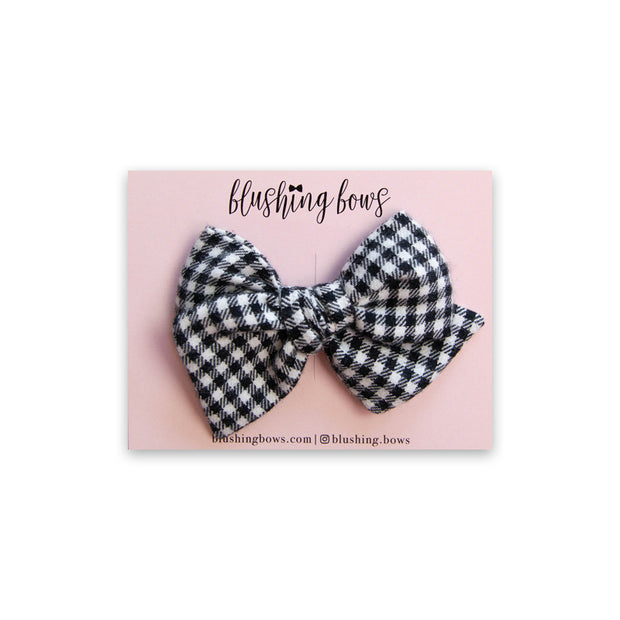 Houndstooth | Multiple Styles (Headband or Clip)