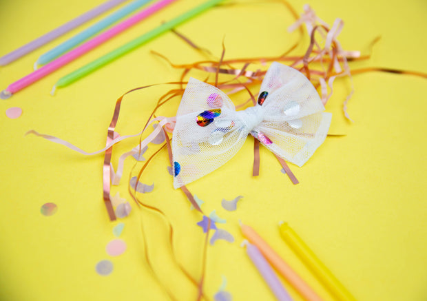 Celebrate Tulle | Multiple Styles (Headband or Clip)