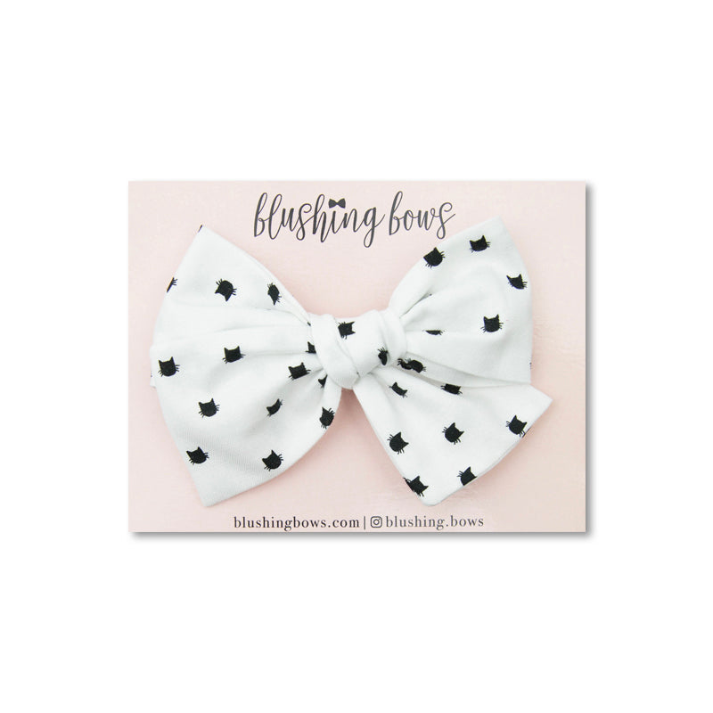 Kitty Bow | Multiple Styles (Headband or Clip)