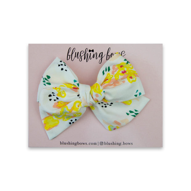 Lemon Floral | Multiple Styles (Headband or Clip)