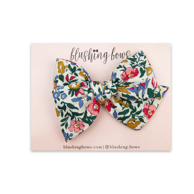 Leah Floral | Multiple Styles (Headband or Clip)