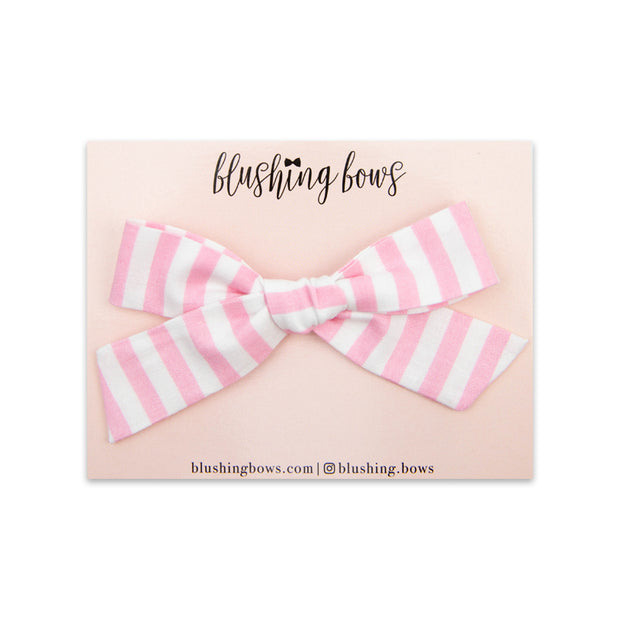 Light Pink Stripe | Multiple Styles (Headband or Clip)