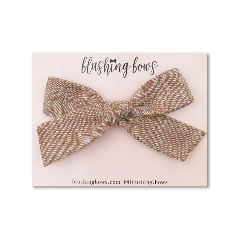Autumn Linen | Multiple Styles (Headband or Clip)