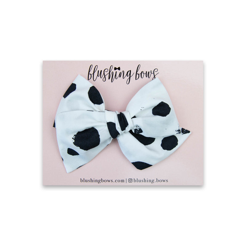 Black and White Dot | Multiple Styles (Headband or Clip)
