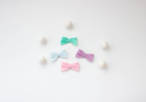 Mini Felt Sailor Newborn Bow