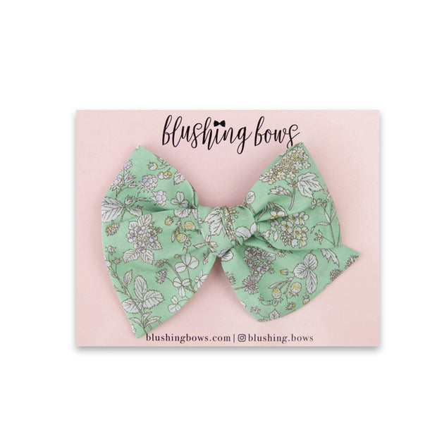 Minty Floral | Multiple Styles (Headband or Clip)