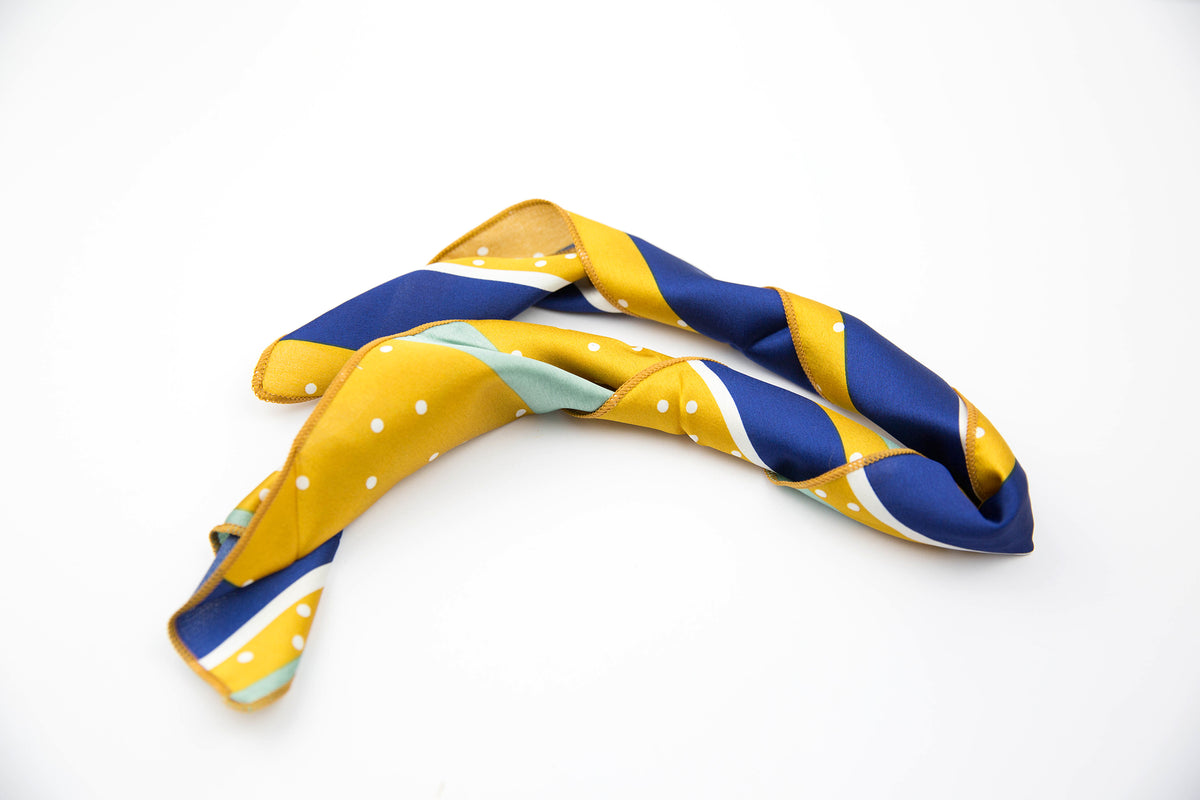 Mustard, Navy, and Sage Stripe | Bandana