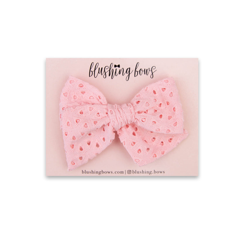 Pink Eyelet | Multiple Styles (Headband or Clip)