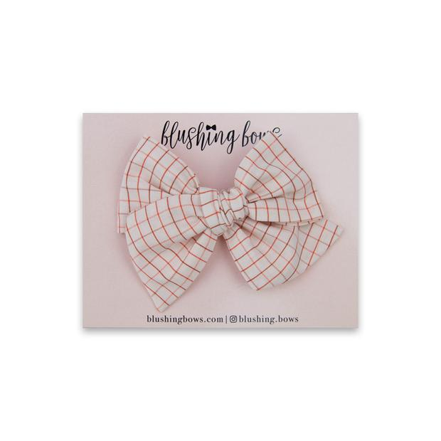Pink Grid $5 | Multiple Styles (Headband or Clip)