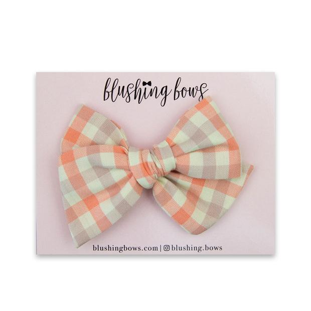 Pink Gingham $5 | Multiple Styles (Headband or Clip)