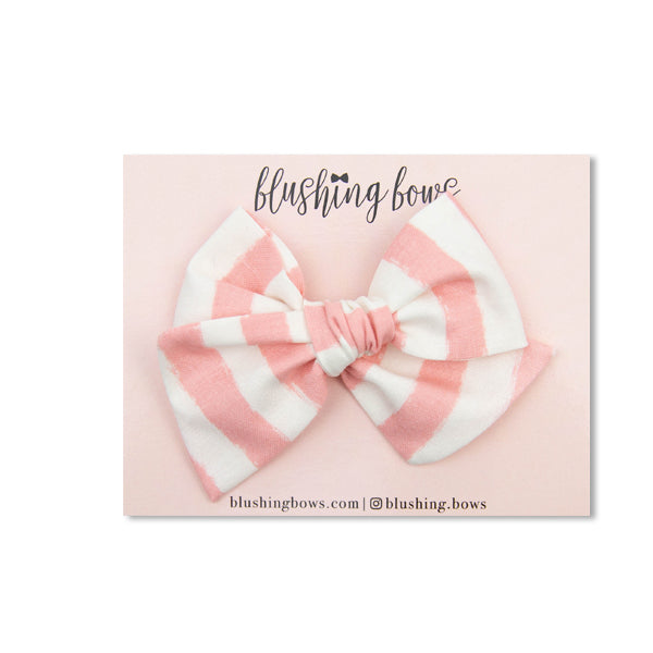 Blush Stripe | Multiple Styles (Headband or Clip)