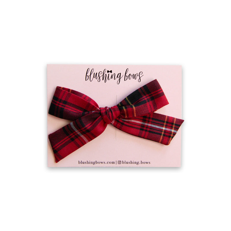 Red Plaid | Multiple Styles (Headband or Clip)
