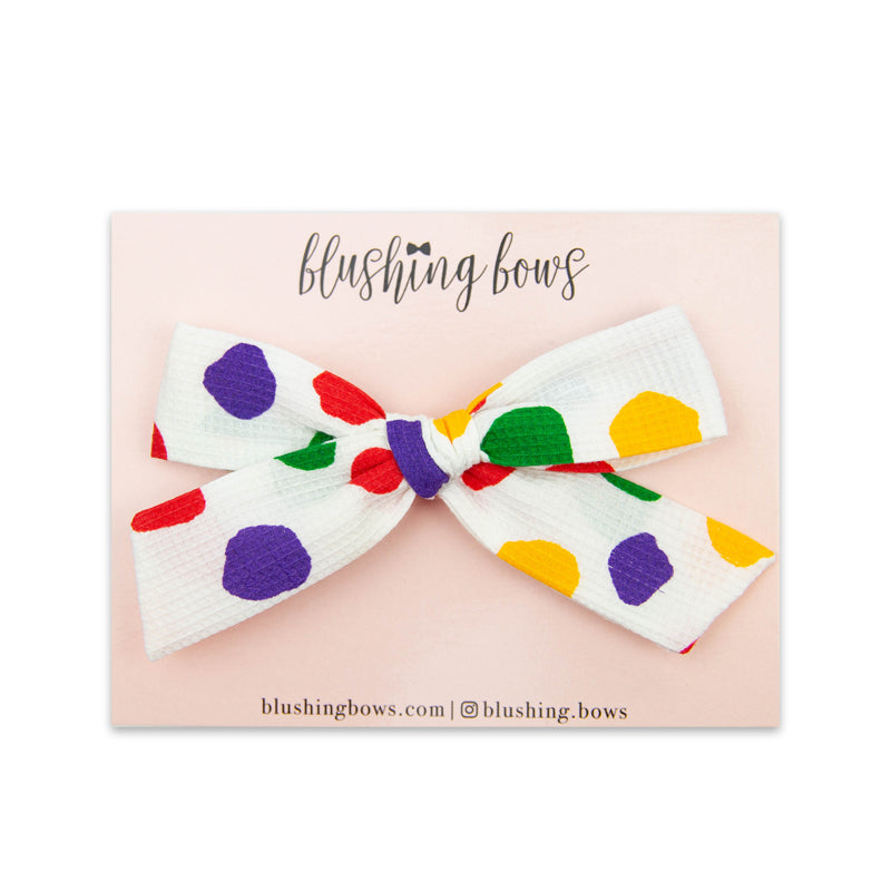 Rainbow Dot Vintage | Multiple Styles (Headband or Clip)