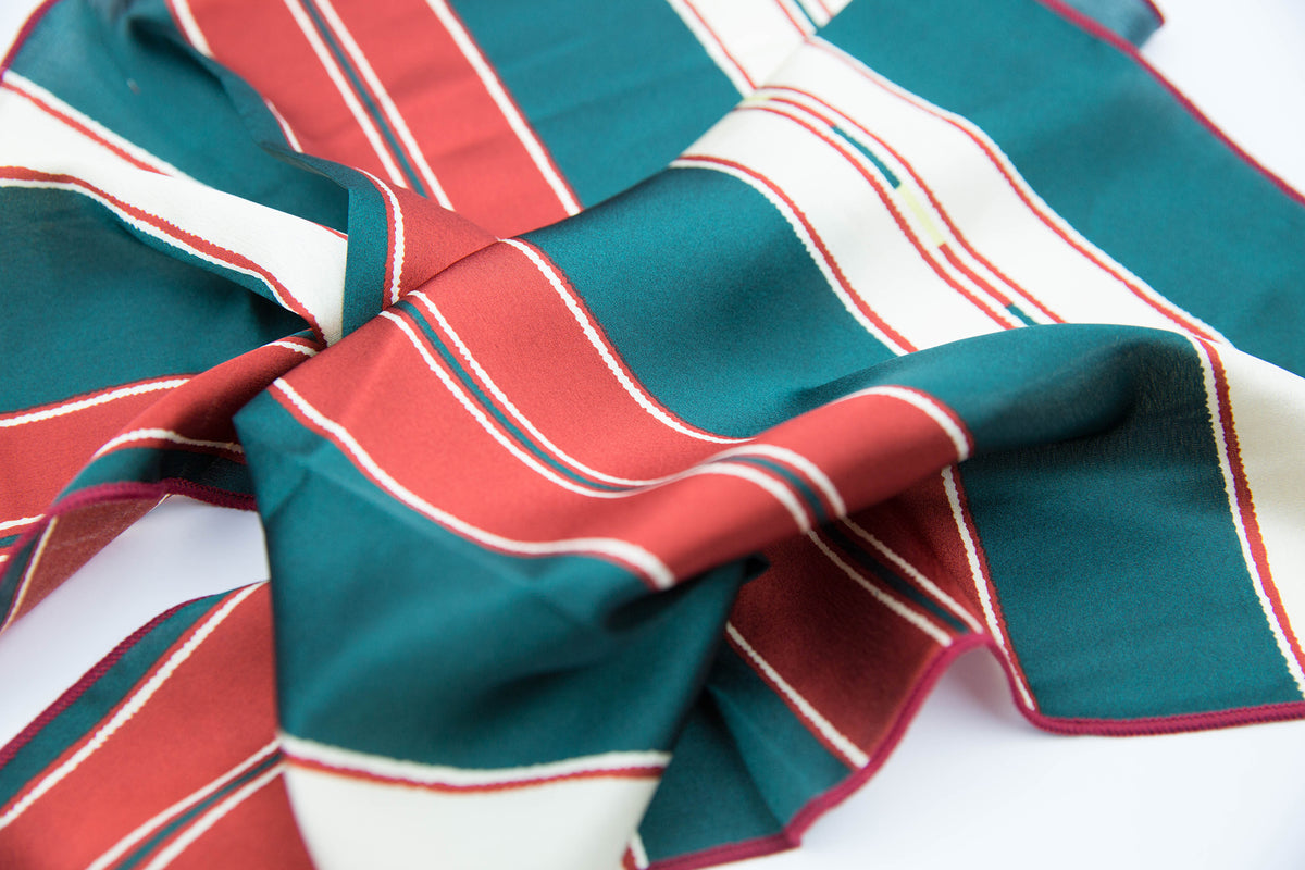 Red and Green Stripe | Bandana
