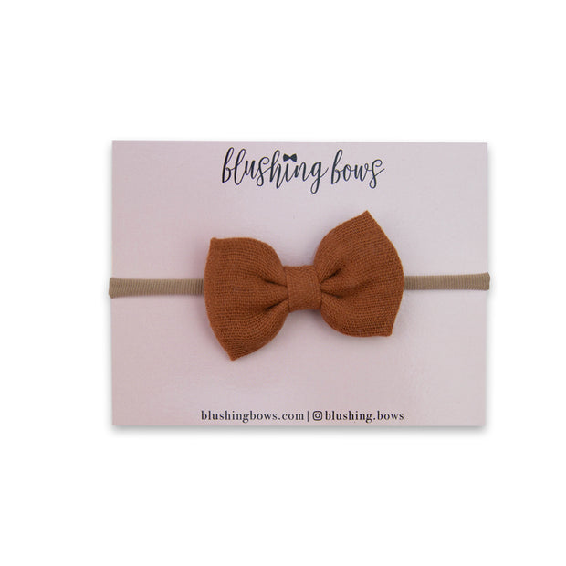 Rust Double Gauze Bow