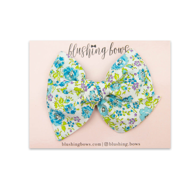 Blue Floral Vintage | Multiple Styles (Headband or Clip)