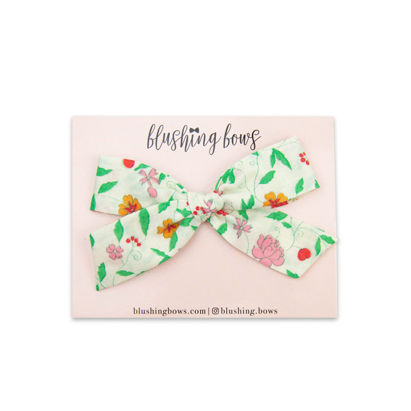 Pink Floral Vintage | Multiple Styles (Headband or Clip)
